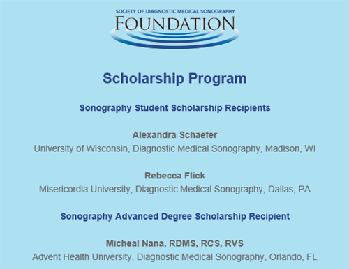 19 SDMS - Foundation Scholarship Winners